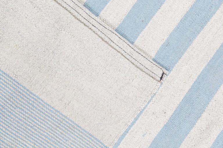 Contemporary Modern Striped Kilim Rugs, Persian Style Rugs, Kilims from Afghanistan For Sale