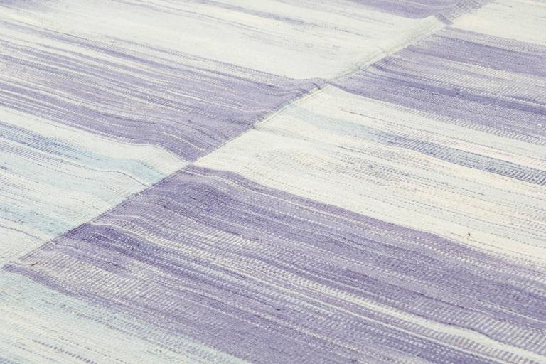 Purple Kilim rugs, Carpet from Afghanistan, Modern Striped Kilim Rugs, In Excellent Condition For Sale In Hampshire, SO51 8BY
