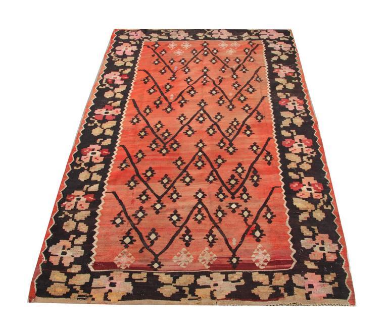 Caucasian Kilim Rug: Antique Flat Weave Rug, Caucasian Kilim Rugs From Karabagh