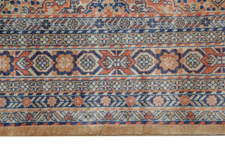 Indian Persian Style Rugs with Traditional Design, Brown Rug Antique Carpet from India  For Sale