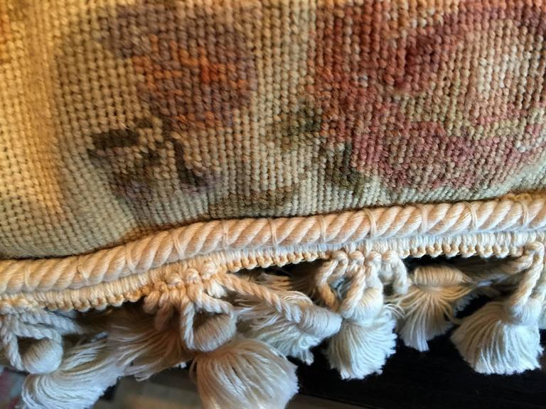 Handmade Decorative Pillows, Vintage French Style Aubusson Pillow Cushion covers In Excellent Condition For Sale In Hampshire, SO51 8BY