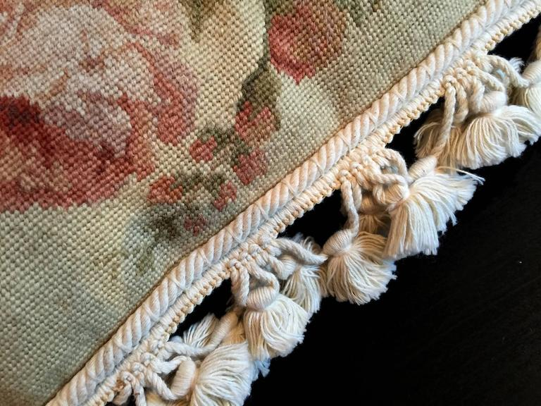 French Provincial Handmade Decorative Pillows, Vintage French Style Aubusson Pillow Cushion covers For Sale