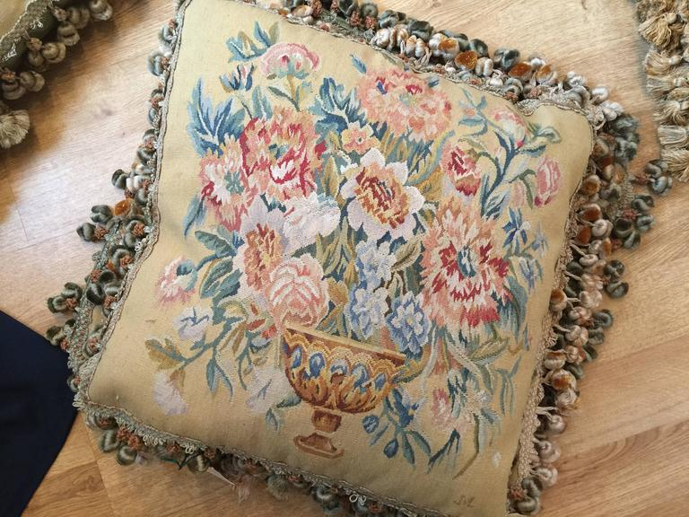 Decorative Pillows, French Style Aubusson The Pillow Cushion Covers For Sale 1