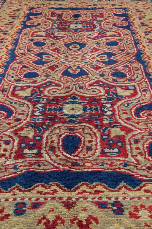 Vegetable Dyed Antique Rugs, Exceptional English Axminster, Art Deco Rugs For Sale