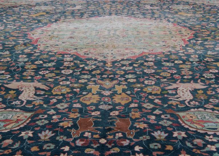 Woven Antique Carpet, Agra Carpet Antique Rug Green Indian Rugs