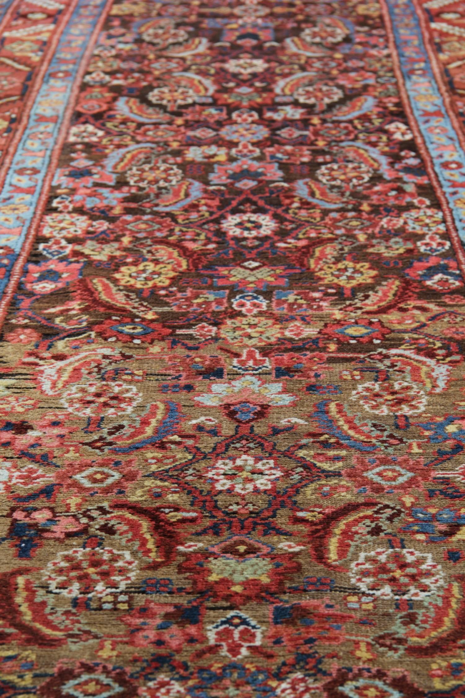 Vegetable Dyed Antique Carpet Runners, Persian Kurdish Stair Runner Rugs  For Sale