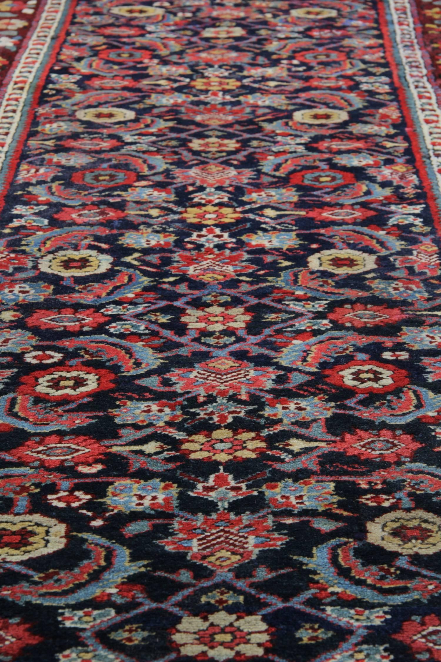 Heriz Serapi Antique Carpet Runners, Persian Kurdish Stair Runner For Sale