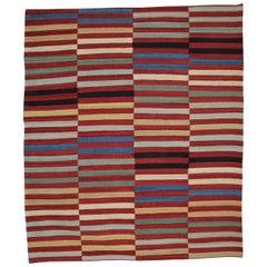 Kilim Rugs, Modern Rugs from Afghanistan, Modern Striped Kilim Rugs