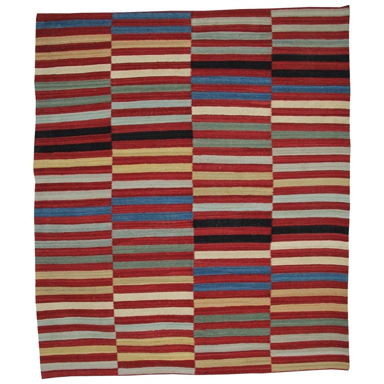 Kilim Rugs, Modern Rugs from Afghanistan, Modern Striped Kilim Rugs For Sale