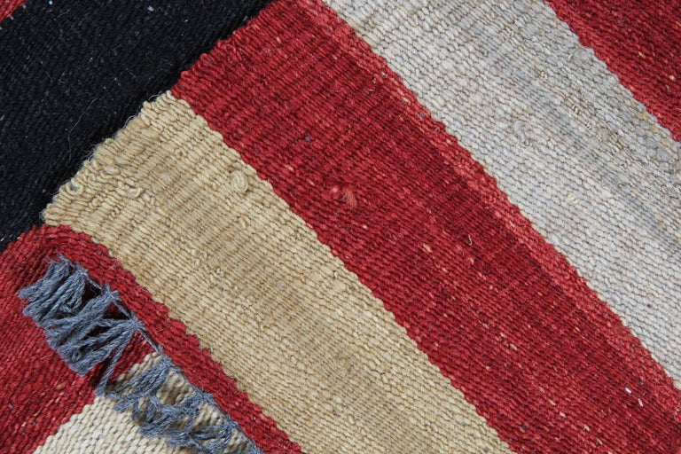 Kilim Rugs, Modern Rugs from Afghanistan, Modern Striped Kilim Rugs In Excellent Condition For Sale In Hampshire, SO51 8BY