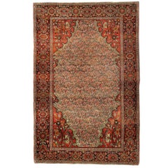 Antique Persian Rugs, Malayer Carpet, Floral Rug
