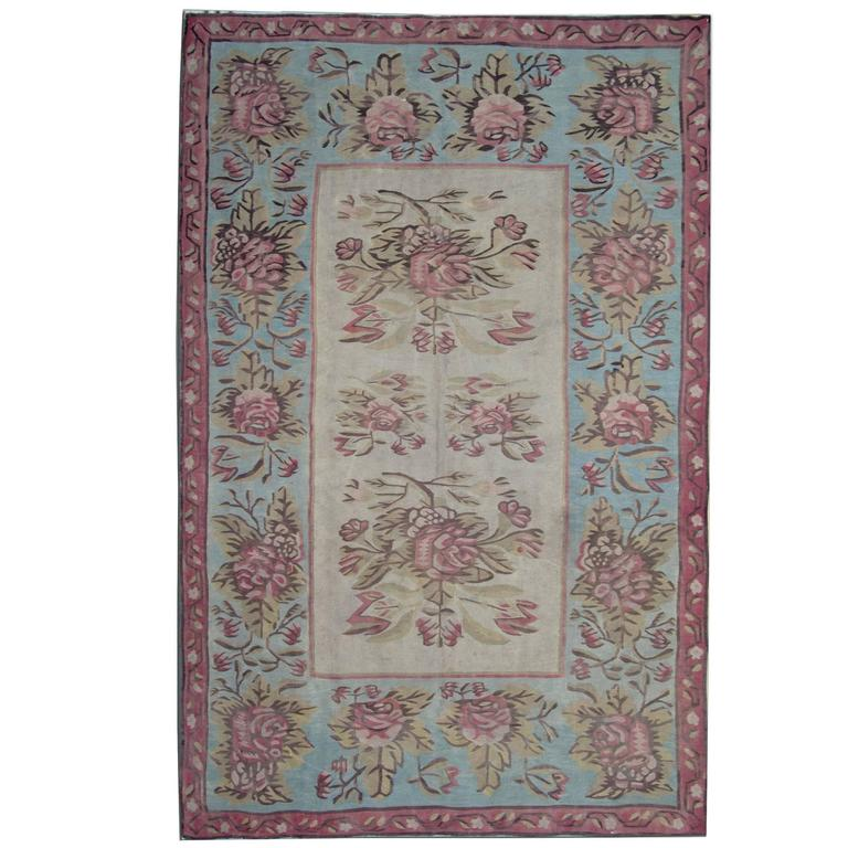 Antique Rugs Kilim From Bessarabia For