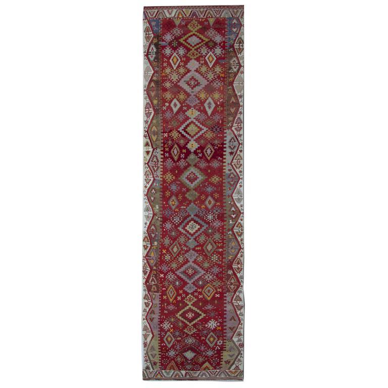 Antique Turkish Kilim Runner