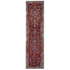 Antique Turkish Kilim Runner, stair runners or hallway runner rugs