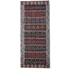 Handmade Carpet Turkish Kilim Rug, Antique Runner Rug, Striped Rug Stair Runner