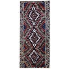 Turkish Runner Kilim Rugs, Antique Rug, Geometric Carpet Rug