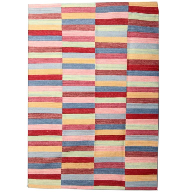 Striped Rug, Afghan Kilim Rugs For Sale At 1stdibs