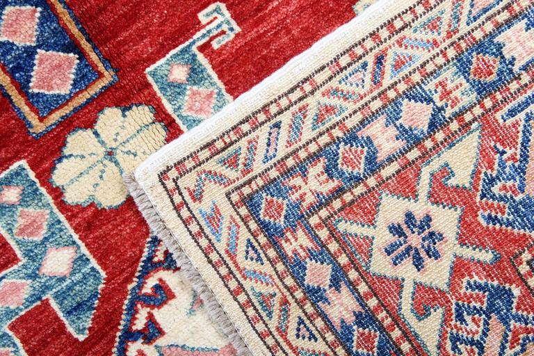 Cream Handmade Kazak Rugs, Persian Style Rugs, Carpet from Afghanistan In New Condition For Sale In Hampshire, SO51 8BY