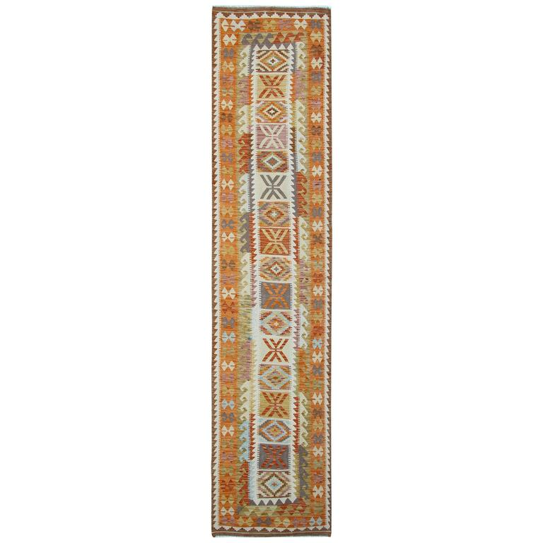 Rug Runner With Symbols For Sale At 1stdibs