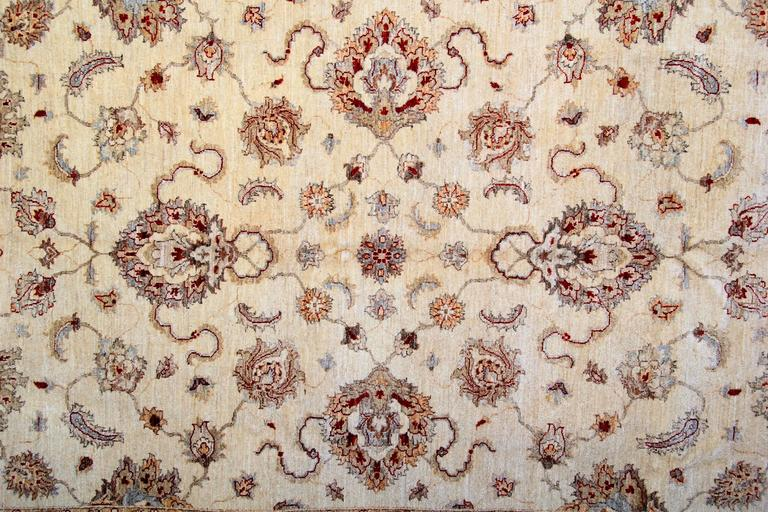 Afghan Cream Oriental Rug, Persian Style Rugs, Beige Carpet for Living Room Rugs  For Sale