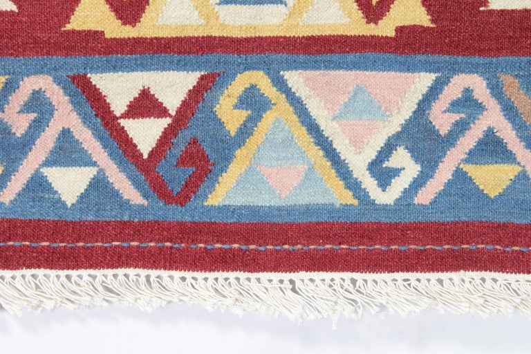 Indian Handmade Rug Oriental Kilim Rugs, Traditional Rugs, Carpet from India For Sale