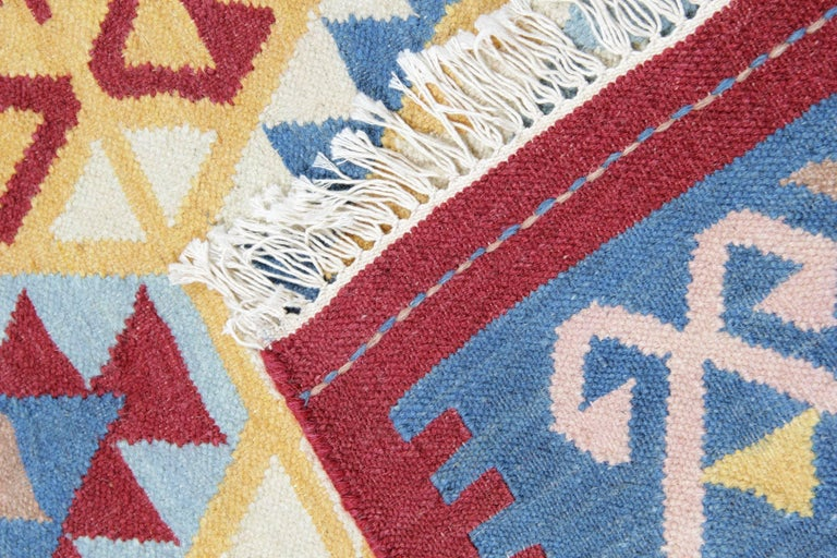Vegetable Dyed Handmade Rug Oriental Kilim Rugs, Traditional Rugs, Carpet from India For Sale
