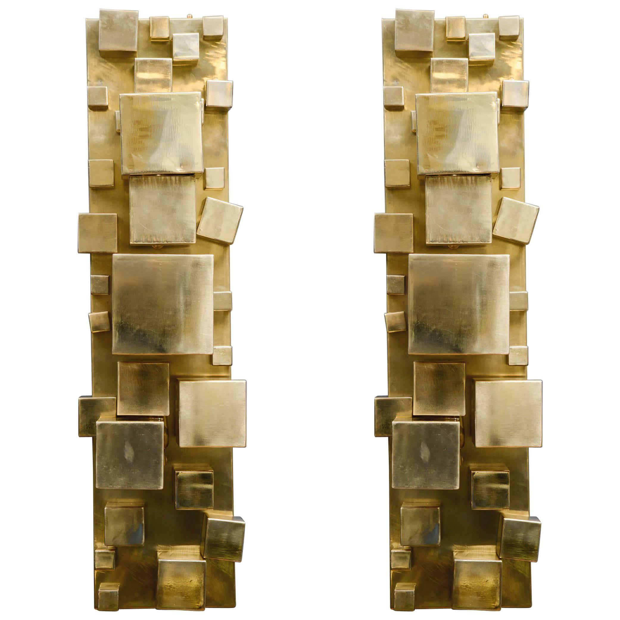 Pair of Brass Sconces