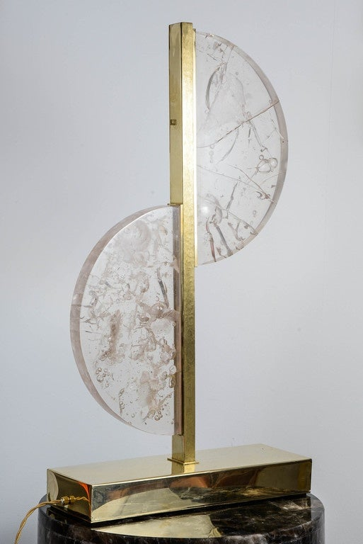 French Original Resin and Brass Lamp For Sale