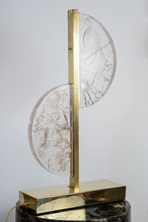 Original Resin and Brass Lamp In Excellent Condition For Sale In Saint-Ouen (PARIS), FR
