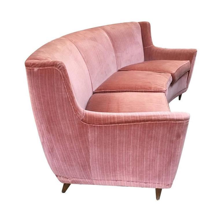 Rare Curved Sofa, Design Gio Ponti in 1940 1