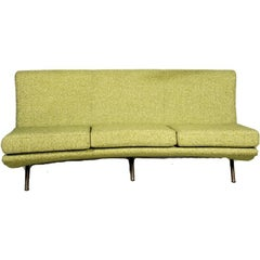 Curved Sofa, Designed by Marco Zanuso, 1950
