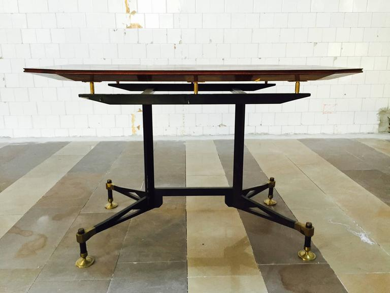 Spectacular Table Desk, attributed Design Ignazio Gardella, 1950 For Sale 1