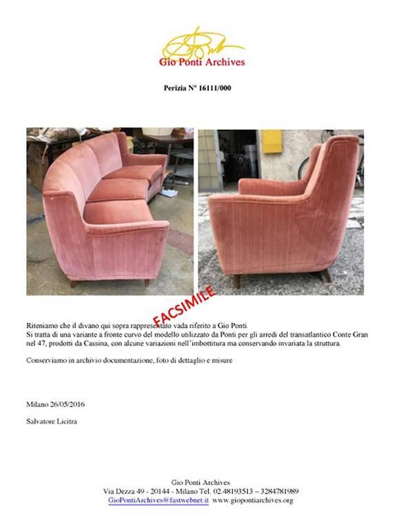 Rare Curved Sofa, Design Gio Ponti in 1940 2