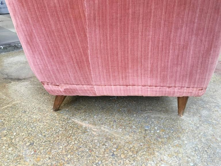 Rare Curved Sofa, Design Gio Ponti in 1940 3