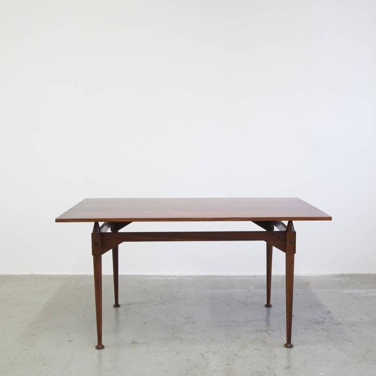 Early TL3 demountable dining table in rosewood by Franco Albini for Poggi, Italy, circa 1959.
