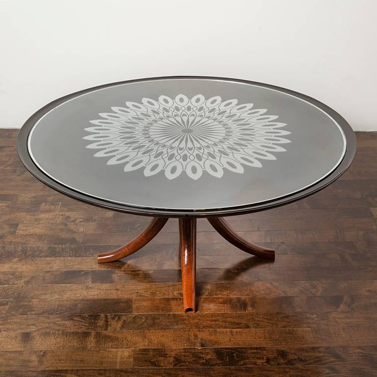 Ebonized Rare Coffee Table by Pietro Chiesa for Fontana Arte For Sale