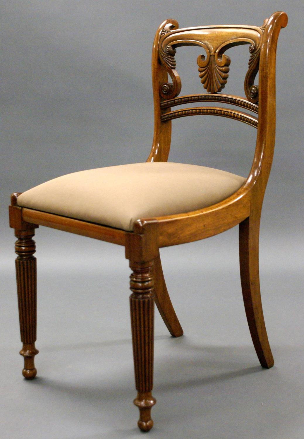 Set Of Eight Regency Mahogany Dining Chairs At 1stdibs