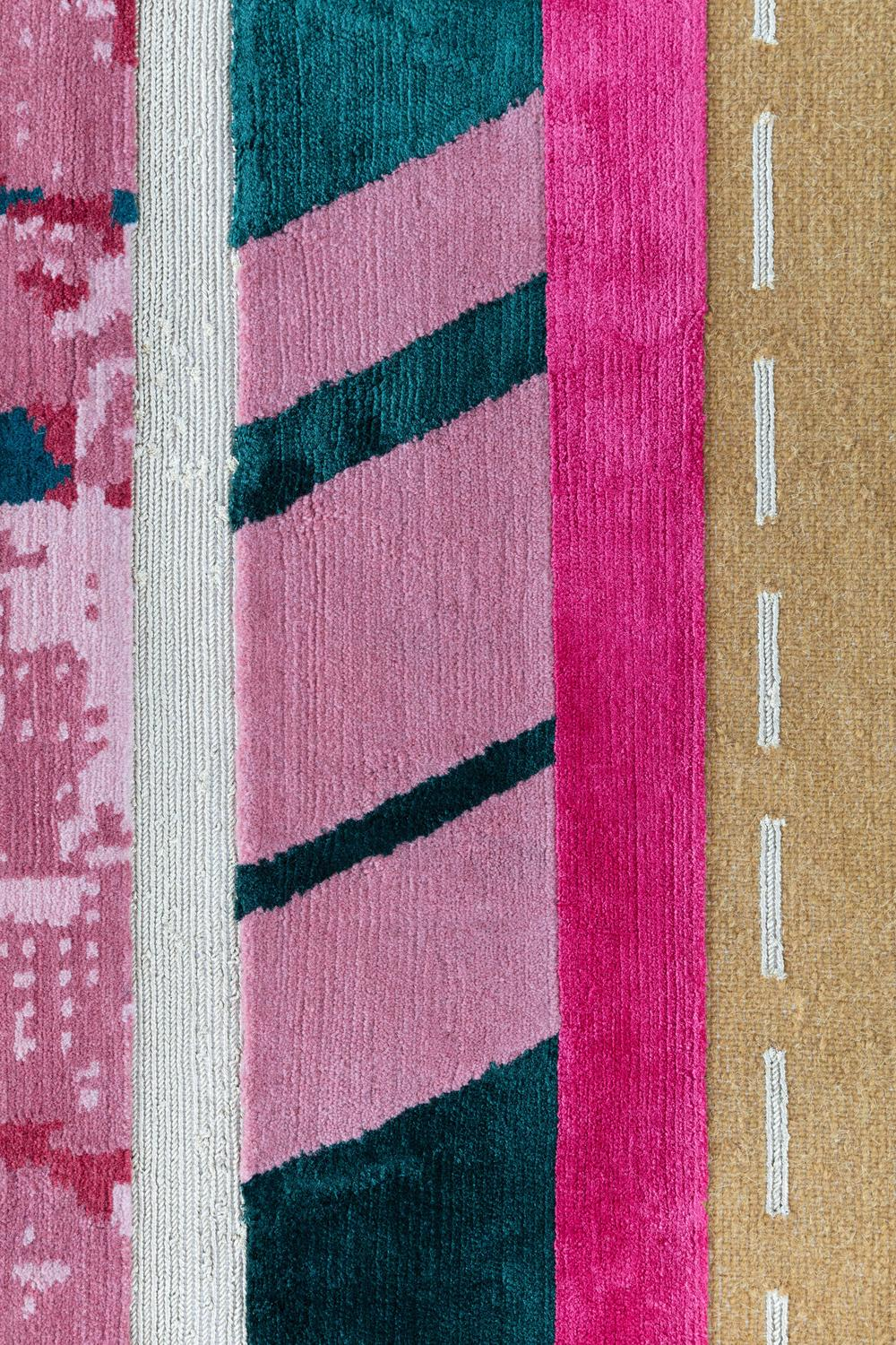 Contemporary Abstract Rug Paralleli B4 By Dimore Studio