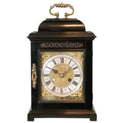 Antique Queen Anne Period Ebony Clock by Richard Rooker, London