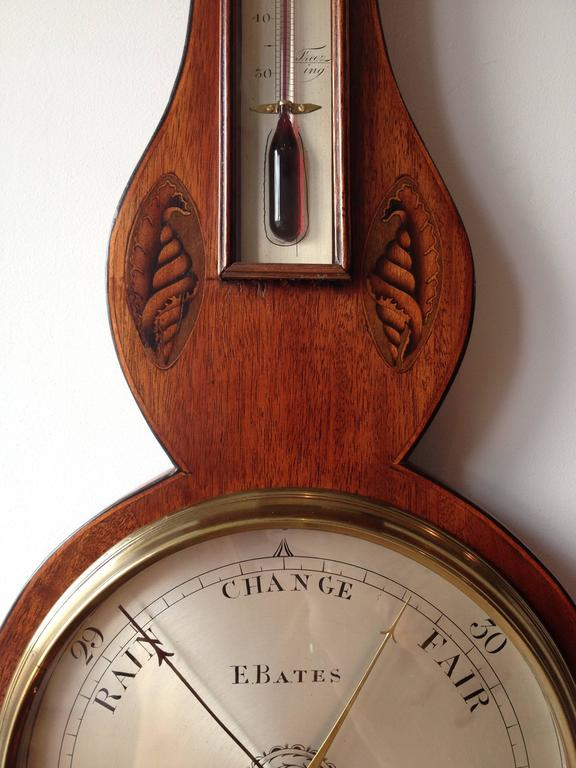 Georgian Wheel Barometer by E. Bates of Kettering