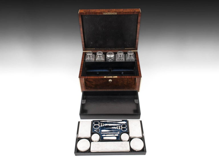 Asprey Antique Sterling Silver Vanity Dressing Box, 19th Century For Sale 1
