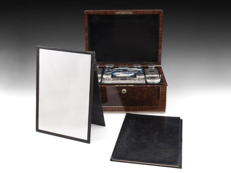 Asprey Antique Sterling Silver Vanity Dressing Box, 19th Century For Sale 3