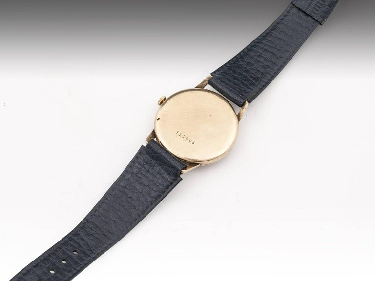 Waltham 9 Carat Gold Wristwatch with Leather Strap, 20th Century 6