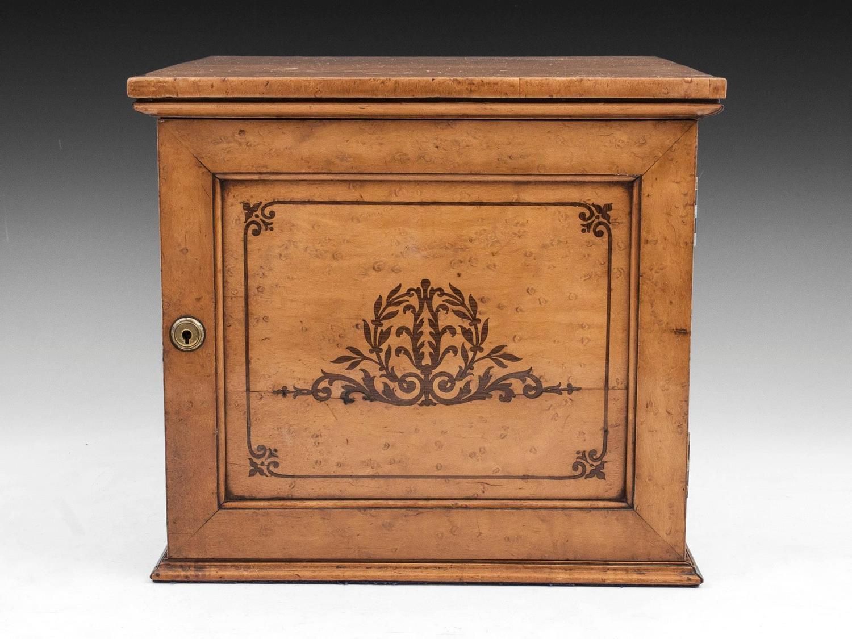 Birdseye Maple Cigar Cabinet For Sale At 1stdibs