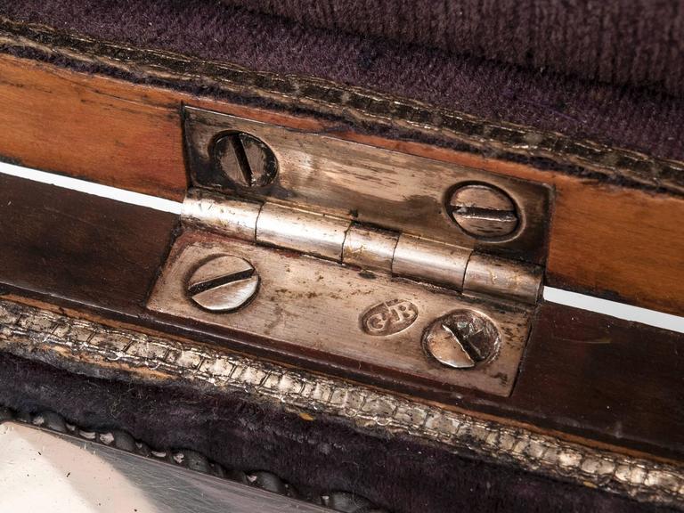 Antique Georgian Harewood Silver Tea Chest Tea Caddy For Sale 3