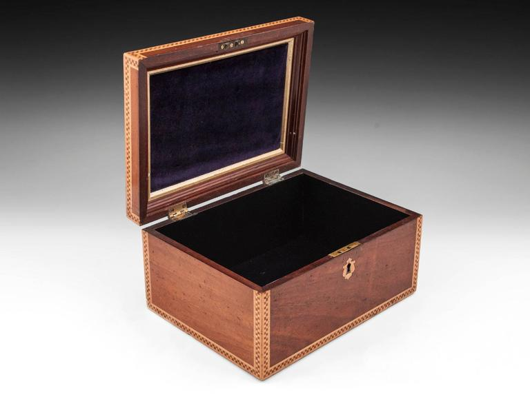 19th Century Victorian Mahogany Box For Sale 3