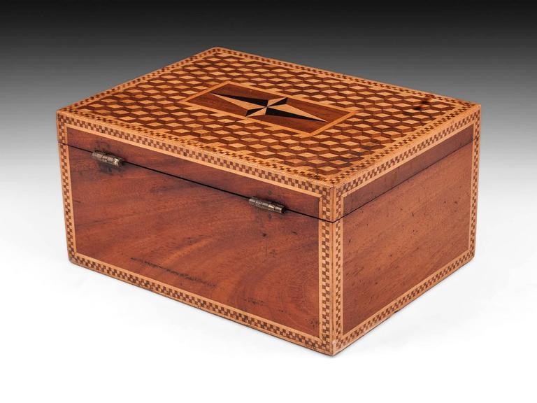 19th Century Victorian Mahogany Box For Sale 1