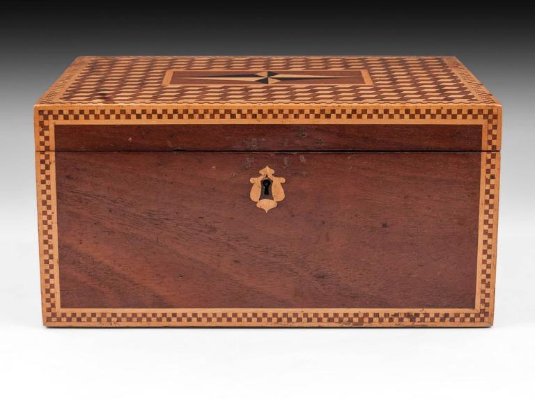 British 19th Century Victorian Mahogany Box For Sale