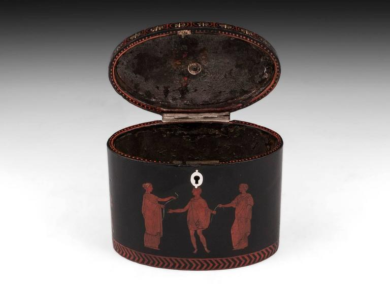 George III Henry Clay Papier Mache Tea Caddy 7