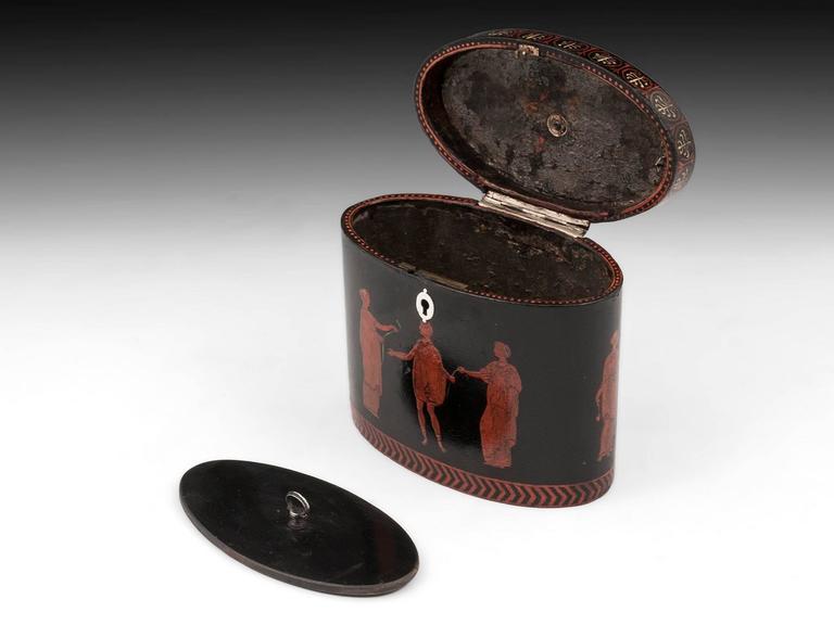 George III Henry Clay Papier Mache Tea Caddy 8